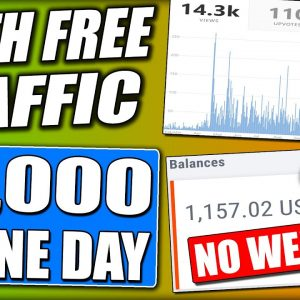 Turn FREE Traffic Into $1,000/Day Easiest WORLDWIDE Affiliate Marketing STRATEGY! Make Money Online