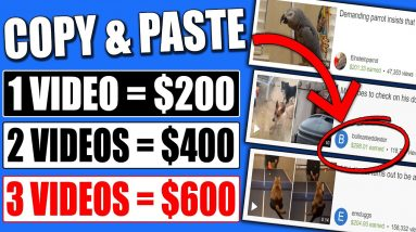 Copy & Paste Videos And Earn $200 Per Video (FULL Tutorial - Not YouTube) Make Money Online!