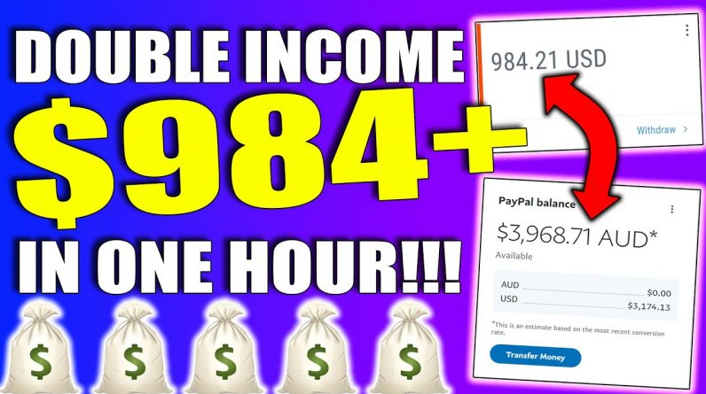 Earn $984+ Working ONE Hour By DOUBLING YOUR INCOME With This Affiliate Marketing (100% FREE)